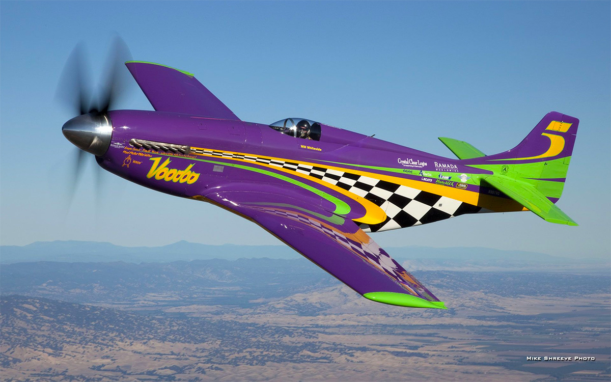 Voodoo is currently the world's fastest p-51 mustang