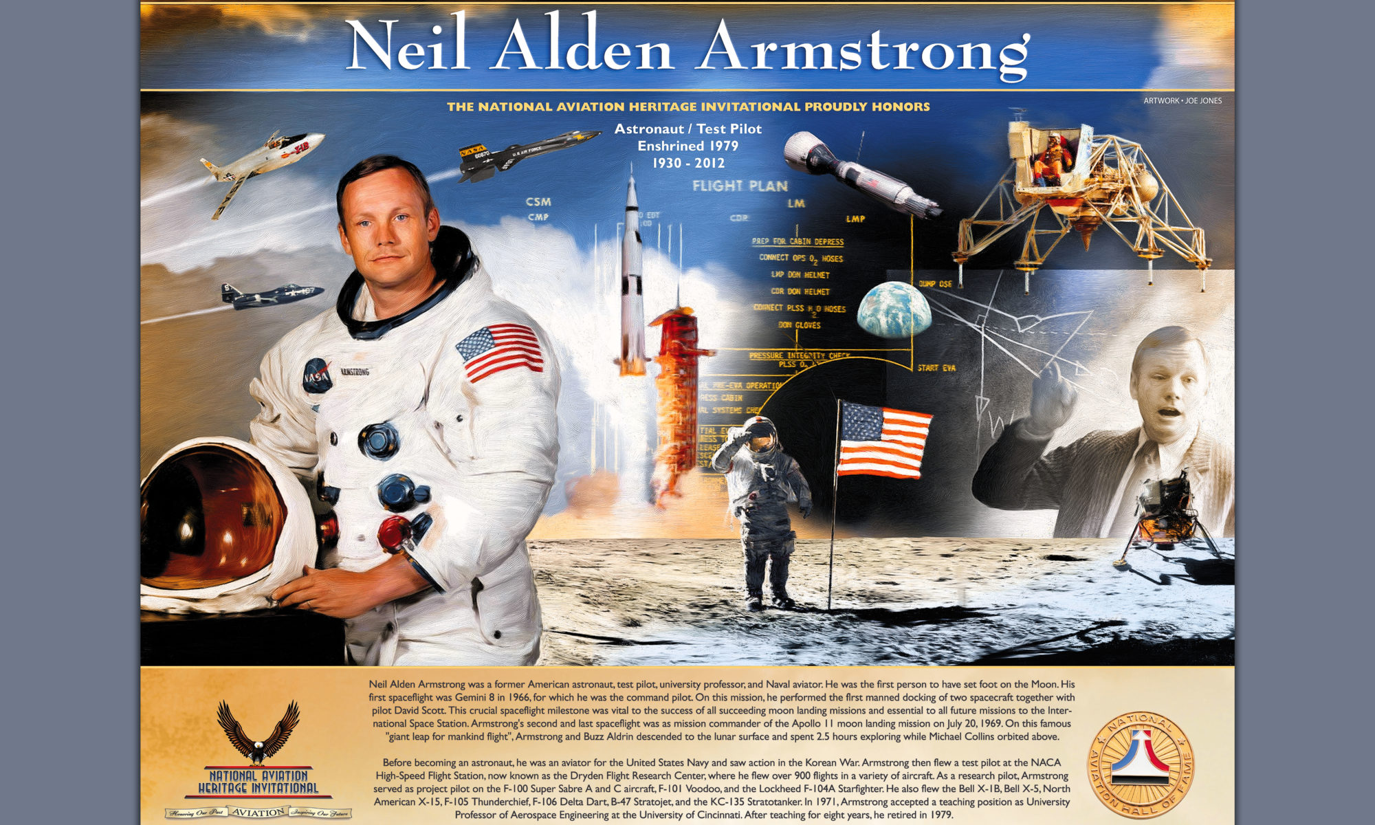 Neil Armstrong Print Preview