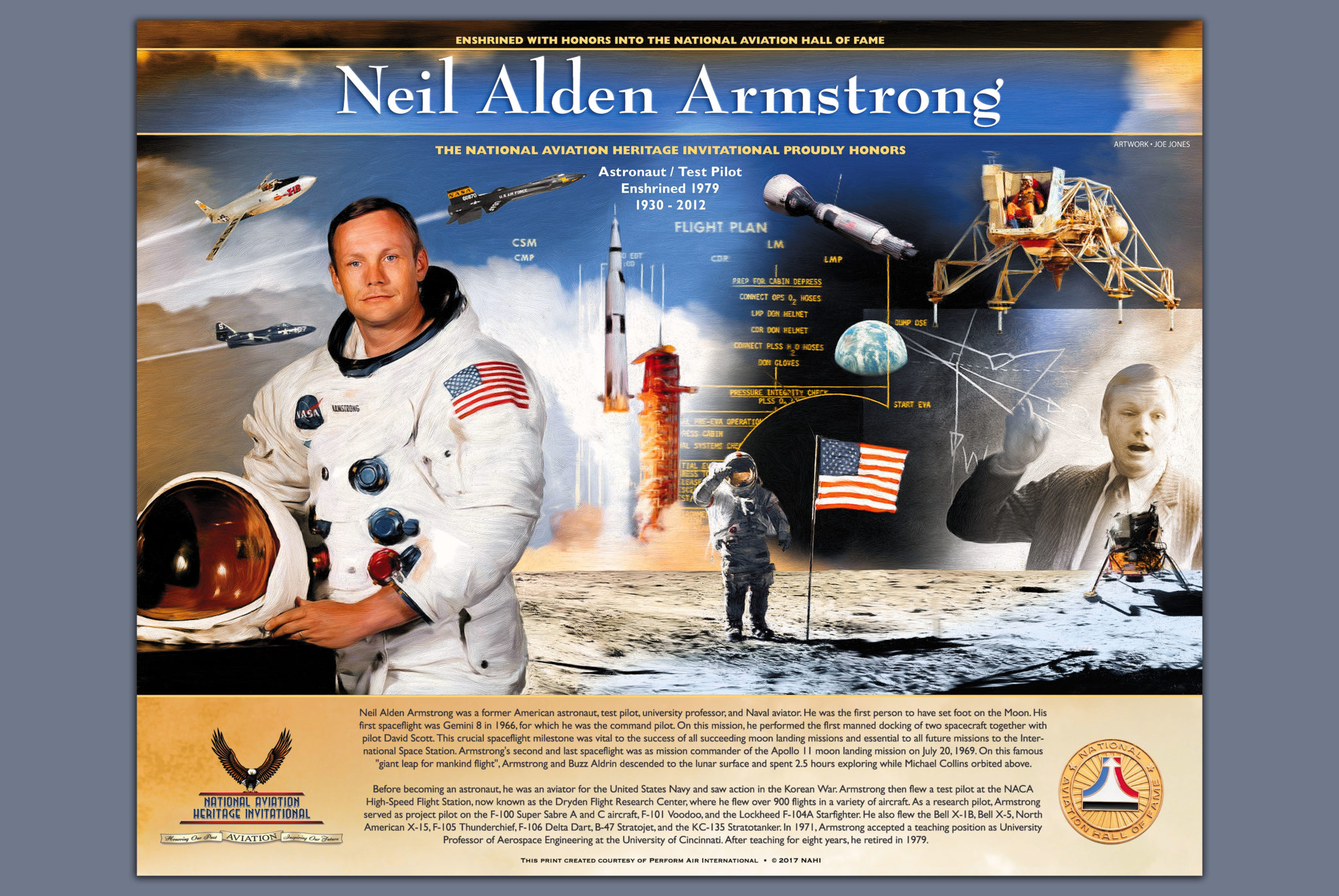Preview of National Aviation Heritage Invitational Neil A. Armstrong Print Released