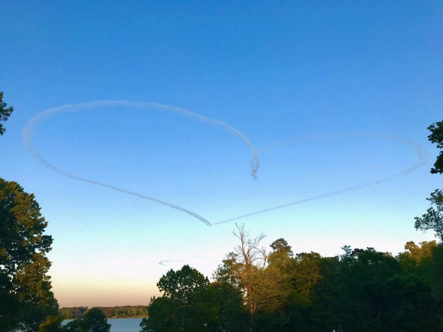 Lightning Formation Airshows Sunset Heart