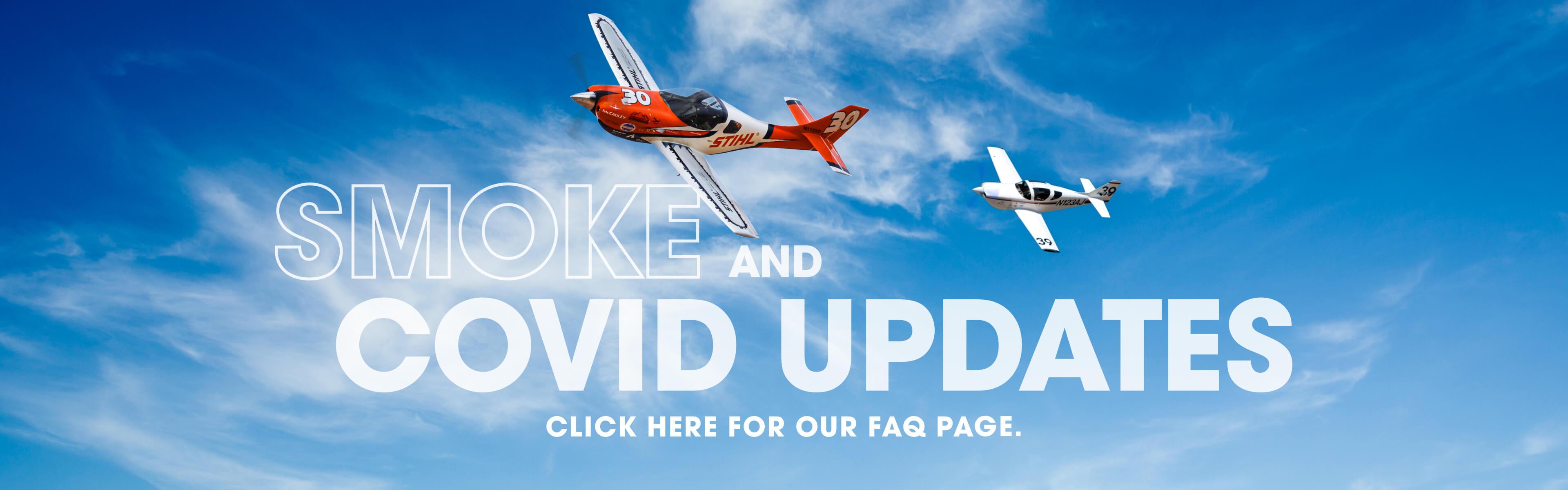Reno Air Races Covid, Smoke and Tickets FAQ